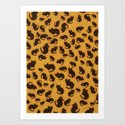 Too many kitties Leopard print Art Print
