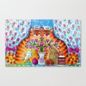 Still life with cats Canvas Print
