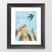 Leaves Of Gold Framed Art Print