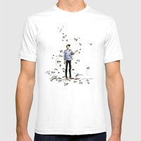 Paper Dart Mens Fitted Tee White SMALL