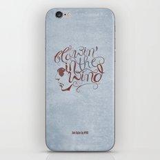 BOB DYLAN, BLOWIN' IN THE WIND iPhone & iPod Skin