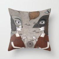 Ana and Eva (An All Hallows' Eve Tale) Throw Pillow