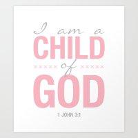 Child of God. 1 John 3:1. Art Print