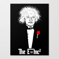 The relativity father Canvas Print