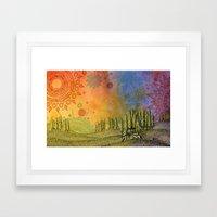 Merging Spheres Framed Art Print