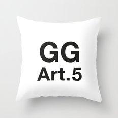 GG Art. 5 Throw Pillow