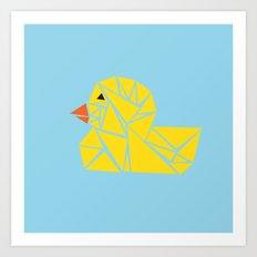 Tanagram Ducky Art Print
