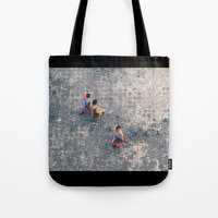 Monks in the city Tote Bag