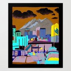 Santa Fe Bridge Art Print