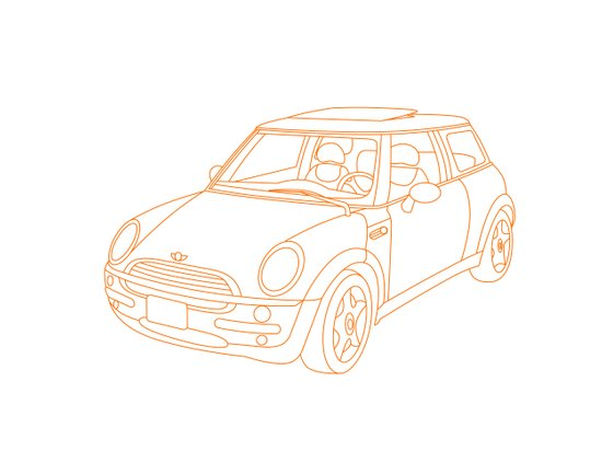 My Mini Cooper Canvas Print