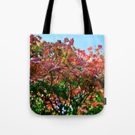 Tote Bag featuring Blazing Leaves by Tracy66