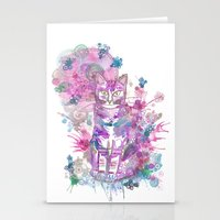 Purple kitten Stationery Cards