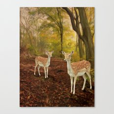 Two Little Deer's Canvas Print