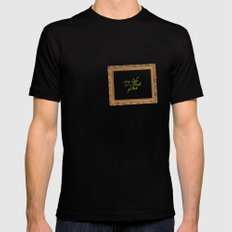 Living life as a work of art SMALL Black Mens Fitted Tee