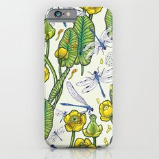 yellow water lilies and dragonflies Slim Case iPhone 6s