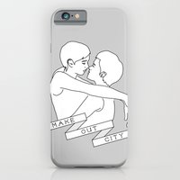 iPhone & iPod Case featuring Make Out City (grey) by near modern disaster