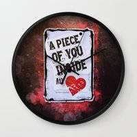 A piece of you inside my heart Wall Clock