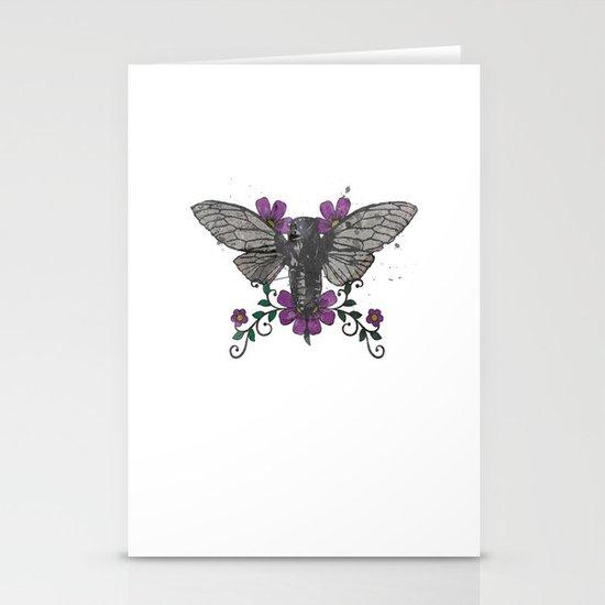 Seventeen Year Locust Stationery Card