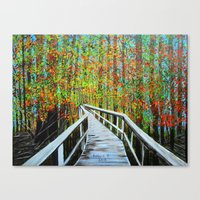 Walkway  In The Woods  Canvas Print
