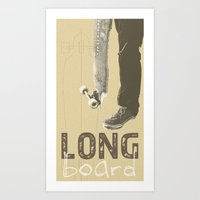 LONGBOARD. Art Print