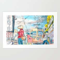 Cold In Yokohama 01 Art Print