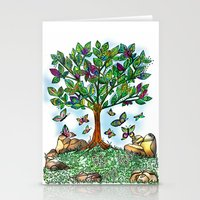 Flutterby Tree Stationery Cards
