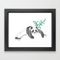 Lazy Panda Framed Art Print