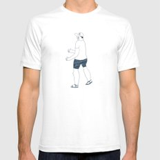 boy in a B cap SMALL White Mens Fitted Tee