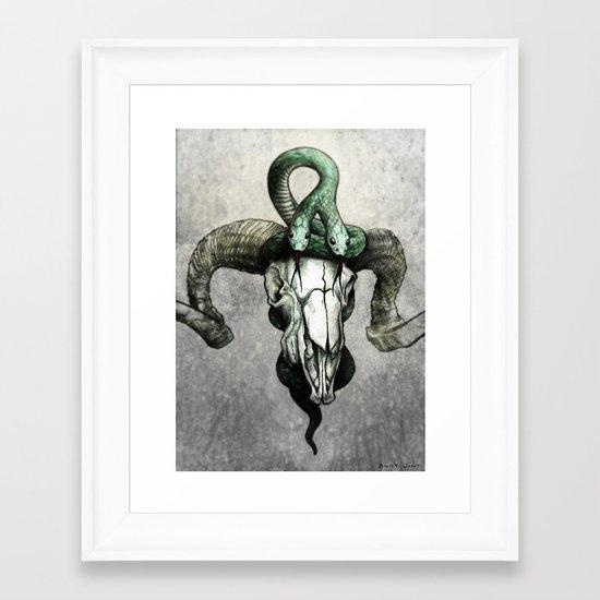Hell followed with him Framed Art Print