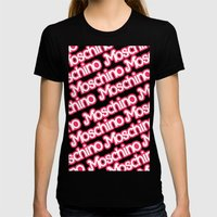 Moschino Everything Black Womens Fitted Tee Black SMALL