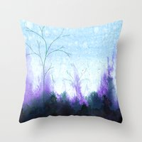 Purple Mist Throw Pillow