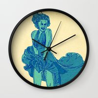 - summer marilyn - Wall Clock