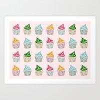 Cute As A Multicoloured … Art Print