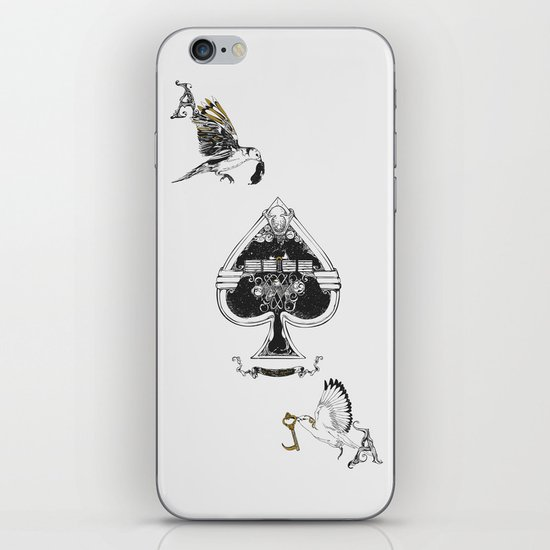 The ace of spades iPhone & iPod Skin