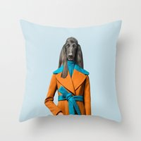 Mrs. Mustard Throw Pillow