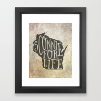 Sconnie for Life Framed Art Print