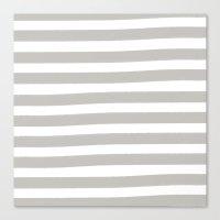 Brushy Stripes - Gray Canvas Print
