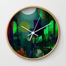Electric city Wall Clock