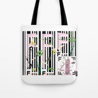 Four Freedoms Barcode Black Tote Bag