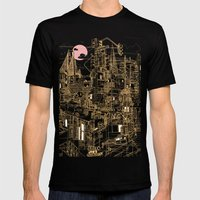 San Francisco! (Night) Mens Fitted Tee Black SMALL
