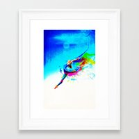 Olympic game gymnastic Framed Art Print