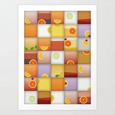 cocktail squares Art Print