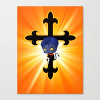 Chibi Nightcrawler Canvas Print
