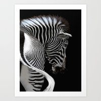 African Stripes Art Print
