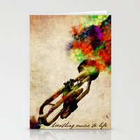 BREATHING MUSIC TO LIFE Stationery Cards