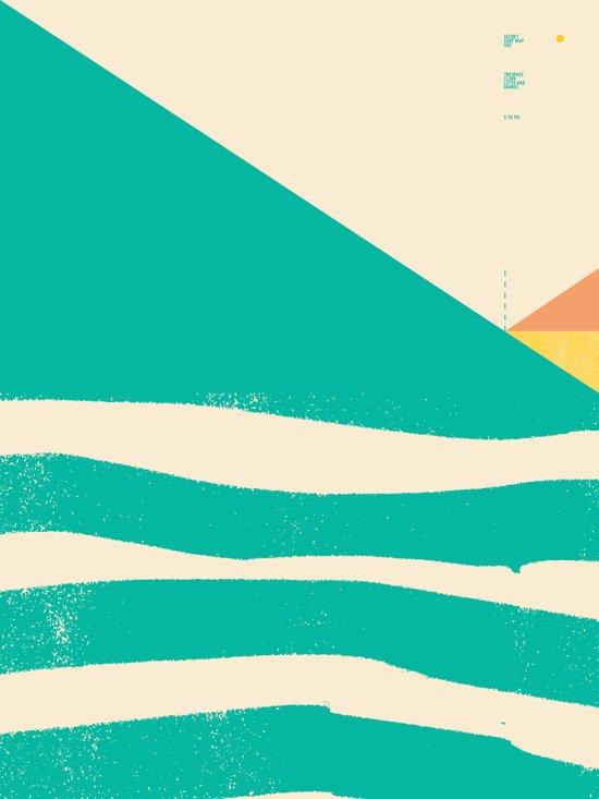 Secret Surf Map 002 — Matthew Korbel-Bowers Canvas Print