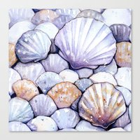 Sea Shells Amethyst Canvas Print