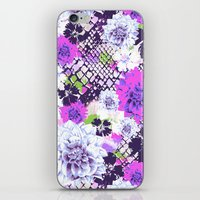 Croc Floral Goes Purple iPhone & iPod Skin