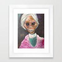 Mrs Bates  Framed Art Print