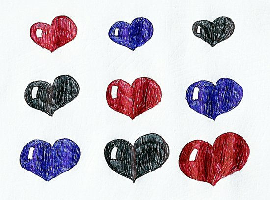 My hearts Art Print